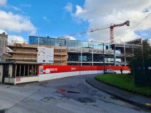 construction works on the brewhouse building abbey quarter, kilkenny
